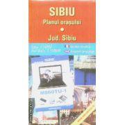 Sibiu planul orasului / city plan / Jud. Sibiu