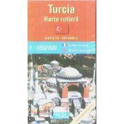 Turcia harta rutiera / road map Antalya - Istambul