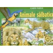 Animale salbatice Carte puzzle