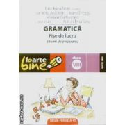 Gramatica fise de lucru clasa a VIII a