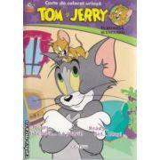 Carte de colorat uriasa Tom si Jerry bilingva