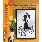 Idei Creative Decoratiuni cu filigran in alb si negru