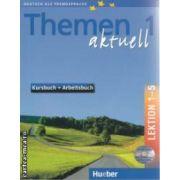 Themen Aktuell 1 Kursbuch + Arbeitsbuch Lektion 1-5 +CD
