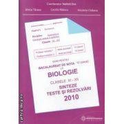 Ghid pentru Bacalaureat la Biologie clasele 11-12 sinteze teste si rezolvari