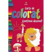 Carte de colorat Continua desenul!