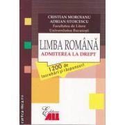 Limba Romana Admiterea la Drept 1200 de intrebari si raspunsuri