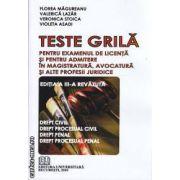 Teste Grila Pentru Examenul de licenta si pentru Admitere in Magistratura Avocatura si Alte Profesii Juridice