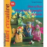 Idei creative nr 46 Zane si flori din snururi si panglici de hartie