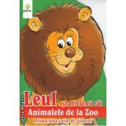 Leul si prietenii sai animalele de la Zoo Prima mea carte de colorat