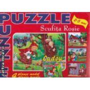 Scufita Rosie Puzzle 2-5 ani