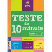 Teste de 10 minute Limba romana Matematica Cunoasterea mediului clasa a II-a