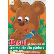 Ursul si prietenii sai Animalele din padure Prima mea carte de colorat