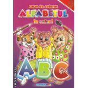 Carte de colorat alfabetul in culori