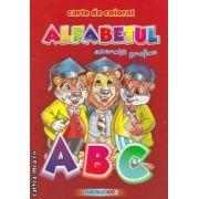 Carte de colorat alfabetul a b c exercitii grafice