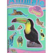 Animale din jungla cu jocuri si abtibilduri