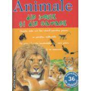 Animale din jungla si din savana cu abtibilduri