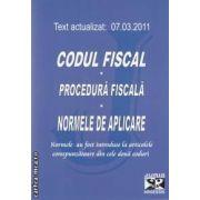 Codul fiscal de procedura fiscala si normele de aplicare 7.03.2011