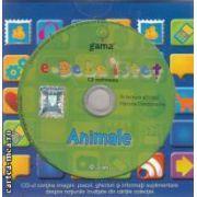 E-bebe istet Animale cu cd multimedia si carticele pliant