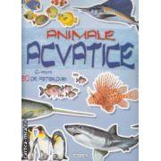 Animale acvatice carte cu peste 50 de abtibilduri