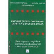 Anatomie si fiziologie umana,genetica si ecologie umana