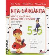 Rita-Gargarita caiet pentru grupa mare 5-6 ani(editura Aramis, autori:Alice Nichita,Mihaela Mitroi,Marcela Penes isbn:78-973-679-850-4)