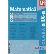 Matematica M1 clasa a IX-a 2011(editura Campion, autori: Marius Burtea, Georgeta Burtea isbn: 978-606-8323-19-0)