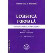 Legistica formala-Introducere in tehnica si procedura legislativa(editura LuminaLex, autor: Profesor univ. dr. Ioan Vida isbn: 978-973-758-231-7)