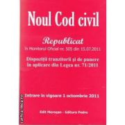 Noul cod civil(editura Morosan, autori:Editura Morosan,Editura Pedro isbn:978-606-8033-62-4)