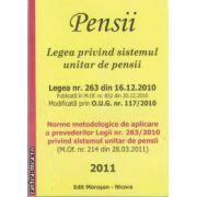 Pensii.Legea privind sistemul unitar de pensii(editura Morosan, autor:Editura Morosan isbn:978-606-8033-44-0)