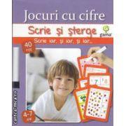 Jocuri cu cifre scrie si sterge 4-7 ani(editura Gama isbn: 978-973-149-234-6)