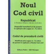 Noul cod civil.Codul de procedura civila republicat(editura Morosan, autor: Ed. Morosan isbn: 978-606-92858-6-)