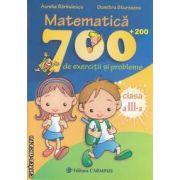 Matematica : 700 + 200 de exercitii si probleme. Clasa a 3-a ( editura: Carminis , autor: Aurelia Barbulescu , Dumitru Sturzeanu ISBN 978-973-123-164-8 )
