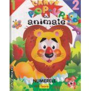 Carte pop-up cu animale : numerele ( editura: Teora , trad.: Alexandru Cosmin Nedelcu ISBN 978-1-59496-591-3 )