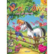 Coloram cai si ponei nr 5 ( editura : Girasol , ISBN 978-606-525-235-6 )