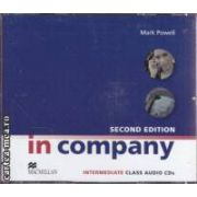 In company second edition intermediate Class Audio CDs ( editura: Macmillan, autor: Mark Powell ISBN 978-0-230-71716-9 )