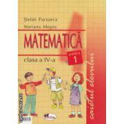Matematica clasa a - IV - a , caietul elevului : partea I + partea II ( editura : Aramis , autor : Stefan Pacearca , Mariana Mogos ISBN 9789736793806 )