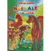Animale de la ferma : carte de colorat ( editura : Eurobookids , autor : Radu Gavrilescu , Serban Andreescu ISBN 978-606-8373-07-2 )
