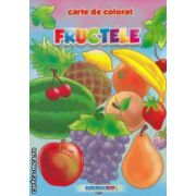 Fructele: carte de colorat ( editura: Eurobookids, autor: Radu Gavrilescu, Serban Andreescu ISBN 978-606-8373-14-0 )