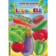 Legumele: carte de colorat ( editura: Eurobookids, autor: Radu Gavrilescu, Serban Andreescu ISBN 978-606-8373-15-7 )