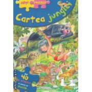 Cartea Junglei: cu 40 de abtibilduri in forma de puzzle ( editura: Girasol, Ilustratii: Carlos Busquets ISBN 978-606-525-271-4 )