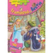 Frumoasa si Bestia : cu 40 de abtibilduri in forma de puzzle ( editura : Girasol , Ilustratii : Carlos Busquets ISBN 978-606-525-270-7 )