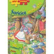 Soricica increzuta : cu 40 de abtibilduri in forma de puzzle ( editura : Girasol , Iilustratii : Carlos Busquets ISBN 978-606-525-272-1 )