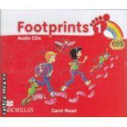 Footprints 1 Audio CDs ( editura: Macmillan, autor: Carol Read ISBN 978-0-2300-1192-2 )