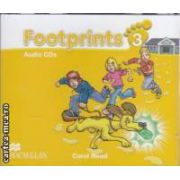 Footprints 3 Audio CDs ( editura: Macmillan, autor: Carol Read ISBN 978-0-2300-1213-4 )