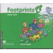 Footprints 4 Audio CDs ( editura: Macmillan, autor: Carol Read ISBN 978-0-2300-1223-3 )