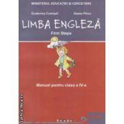 Limba engleza - Firm Steps: manual pentru clasa a IV - a ( editura: Corint, autori: Ecaterina Comisel, Ileana Pirvu ISBN 978-973-135-335-7 )