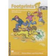 Footprints 3: Tests and Photocopiable Resources: CD - ROM pack ( editura: Macmillan, autori: Donna Shaw, Carol Read ISBN 978-0-2307-2220-0 )