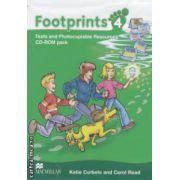 Footprints 4: Tests and Photocopiable Resources: CD - ROM pack ( editura: Macmillan, autori: Katie Curbelo, Carol Read ISBN 978-0-2307-2224-8 )