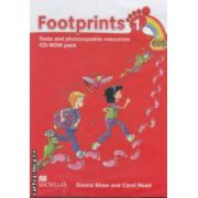 Footprints 1: Tests and Photocopiable Resources: CD - ROM pack ( editura: Macmillan, autori: Donna Shaw, Carol Read ISBN 978-0-2307-1638-4 )