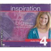 Inspiration 4 Audio CDs ( editura: Macmillan, autori: Judy Garton - Sprenger, Philip Prowse ISBN 978-1-405-02954-4 )